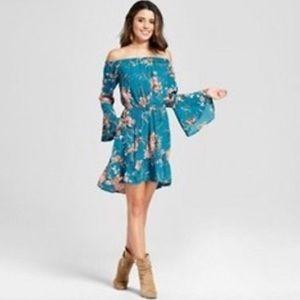 New Floral off the shoulder dress xxl women